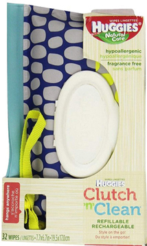 Huggies Natural Care Baby Wipes Clutch 'n Clean Carrying Case