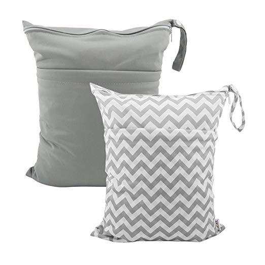 ALVABABY Cloth Diaper Wet/Dry Bags, 2 pc