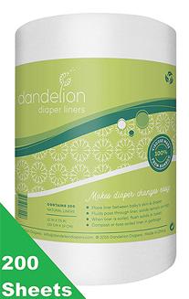 Dandelion Diapers Natural Diaper Liners