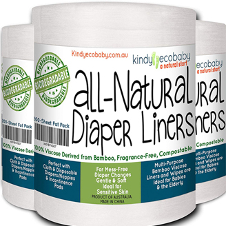 Kindy Ecobaby All Natural Diaper Liners