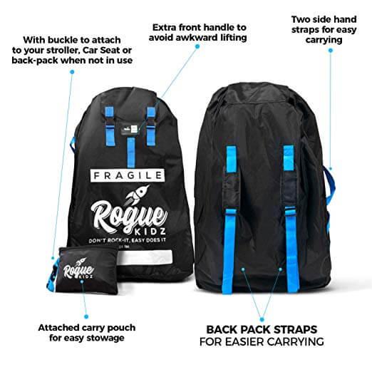 RogueKidz Car Seat Travel Bag