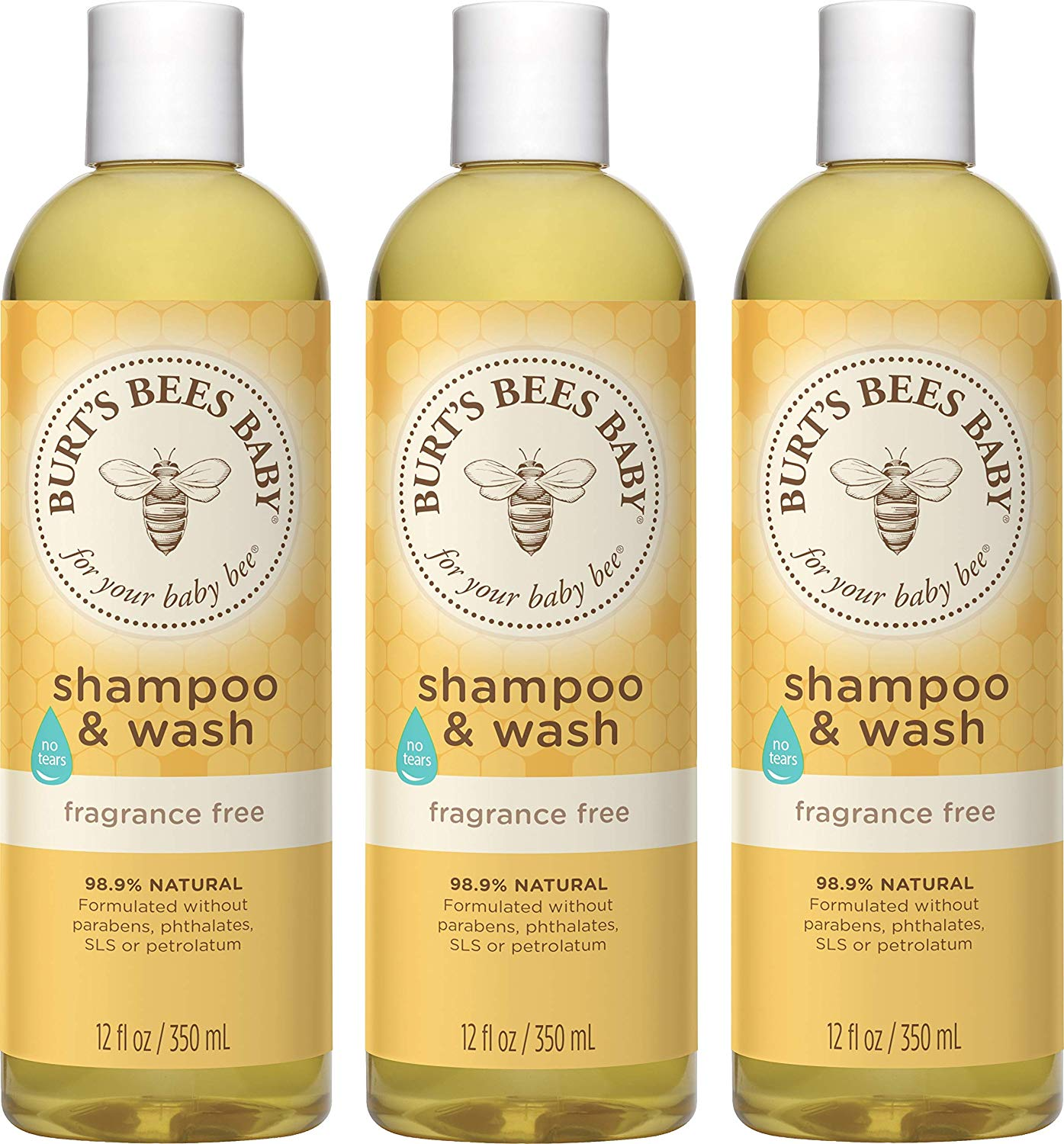 Burt's Bees Baby Bee Shampoo and Body Wash, Fragrance Free